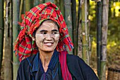 Local woman in Indein, Inle Lake, Myanmar, Asia.