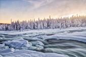 Storforsen, Swedish Lapland, Sweden, Europe.