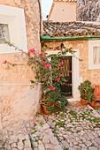 Banyalbufar is a stone village in Tramuntana mountains Majorca island on October 31, 2016 Balearics Spain.