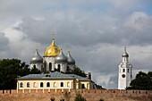 St Sophia Cathedral, Clock Tower, Kremlin, UNESCO World Heritage Site, Veliky Novgorod, Novgorod Oblast, Russia