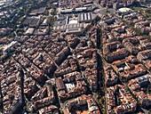 Paralel Avenue between quarters of El Poble Sec and Sant Antoni.