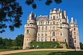 Brissac Castle, Brissac-Quince, Angers District, Maine-et-Loire department, Pays de la Loire, Loire Valley, UNESCO World Heritage Site, France, Europe.