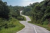 Padawan road, Sarawak, Malaysia.