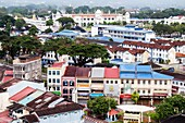 Aerial view of old town looking west, Ipoh, Perak, Malaysia