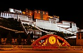 Lhasa, Tibet, China - The view of Potala Palace at night.