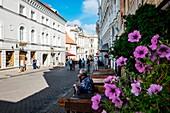Vilnius, Lithuania, Europe. The main street in the Vilnius city center.