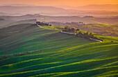 Asciano countryside, Crete senesi, Tuscany, Italy.