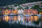 Bergen artistic quarter, Southern Norway.