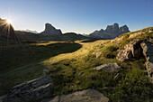 Mondeval, Dolomites, Cortina d'Ampezzo, Veneto, Belluno, Italy.