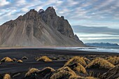Landscape at Stokksnes, Eastern Iceland, Europe.