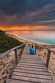 Europe, Italy, Piri Piri Beach at dawn, Salento, Apulia.