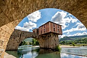 Old bridge city of Millau. Aveyron. France. Europe