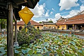Lotus Lake at the Truong Du Pavilion. Dien Tho Residence, Imperial City, Hue, Vietnam.