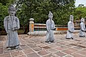 Statues of Mandarins at the Tomb of Tu Duc. Hue, Vietnam.