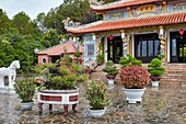 Temple of Tran Nhan Tong at the Huyen Tran Cultural Center. Hue, Vietnam.