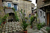 Ancient village Calcata, 50 km from Rome.
