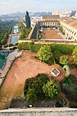 Alcazar of Catholic Kings and Royal Horse Riding Stables, Córdoba, Andalusia, Spain, Europe.