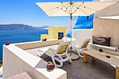 Luxury accommodation in Oia, Santorini, Cyclades, Greece.