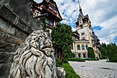 Peles Palace, former royal castle, built between 1873 and 1914, located near Sinaia city in Romania.