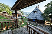 Guest house at Jean Vigo Street in Drvengrad village also called Kustendorf built by Emir Kusturica in Zlatibor District, Serbia.