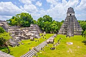 The archaeological site of the pre-Columbian Maya civilization in Tikal National Park , Guatemala. The park is UNESCO World Heritage Site since 1979.