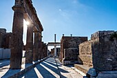 Ruins of a major important roman city. Pompeii, Campania. Italy