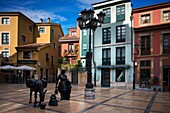 Trascorrales square in the Center of Oviedo City, Asturias, Spain. One of the stops of the Transcantabrico Gran Lujo luxury train.