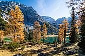 Seebensee mit Mieminger Gebirge im Herbst, Alpen, Tirol, Österreich