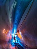 Gletscherhöhle Natur Eispalast, Hintertuxer Gletscher, Zillertal, Tirol, Österreich, Europa