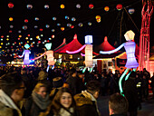 Tollwood winter festival 2017, christmas market, Munich, Upper Bavaria, Germany