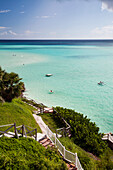 BERMUDA. Southampton Parish. A view of the water from the Pompano Beach Club.