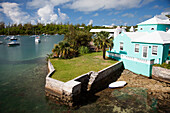 BERMUDA. Sandy's Parish. View of homes in the village of Somerset.