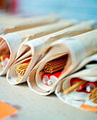 CHINA, Macau, Taipa, Asia, wrapped incense sticks at temple, close-up