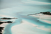 EXUMA, Bahamas. View of the Exuma Islands from the plane.