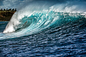 USA, HAWAII, Maui, Jaws, a big wave rolling through at Peahi on the Northshore