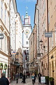 alley, lane, narrow street, old town, historic city center, Salzburg, Austria, Europe