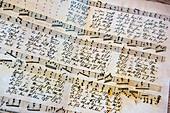 Notenblatt, Stille Nacht, Museum, Kapelle,  katholisches Brauchtum, Weihnachtszeit, christliches Brauchtum, Oberndorf, Österreich, Europa