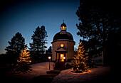 silence night-chapel at night-time, museum, Oberndorf, Austria, Europe