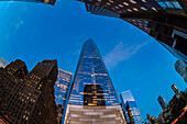 World Trade Center At Twilight; New York City, New York, United States Of America