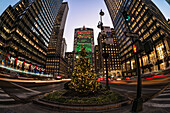 Christmas Decorations On Park Avenue; New York City, New York, United States Of America