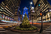 Christmas/Hanukkah Decorations On Park Avenue; New York City, New York, United States Of America