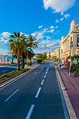 Street Along The Waterfront; Nice, Cote D'azur, France