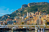 Waterfront With Buildings And Boats In The Harbour; Monte Carlo, Monaco