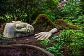 The Moss Lady In Beacon Hill, Created By Gardener Dale Doebert; Victoria, British Columbia, Canada