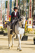 Rider In The May Horse Fair; Jerez De La Frontera, Cadiz, Andalusia, Spain