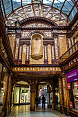 Elegant Edwardian tiled shopping arcade built in 1906; Newcastle upon Tyne, Tyne and Wear, England