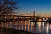 Rfk Triboro Bridge At Twilight; New York City, New York, United States Of America