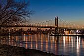 Rfk Triboro Bridge At Twilight; New York City, New York, United States Of America