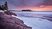 Ice And Snow On Lake Superior; Thunder Bay, Ontario, Canada
