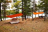 Camping Beside Birch Lake; Ontario, Canada